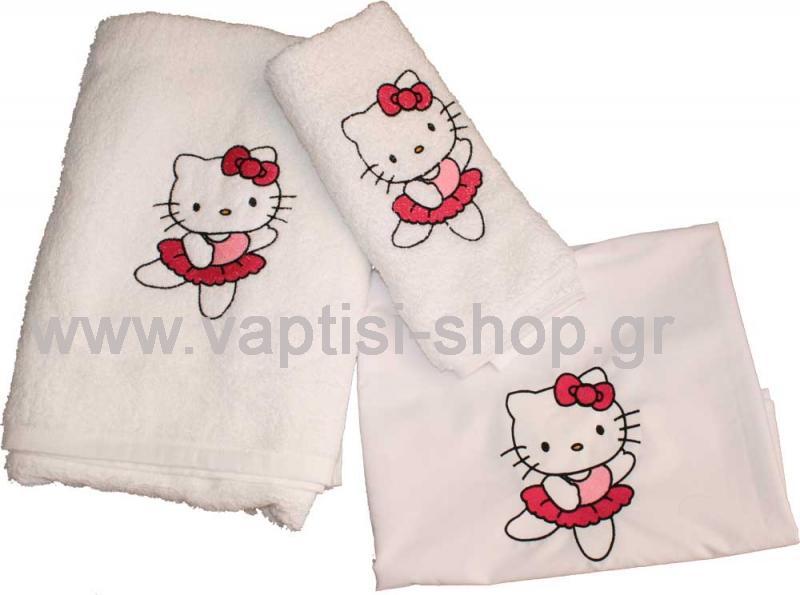 Λαδόπανα βάπτισης Hello Kitty