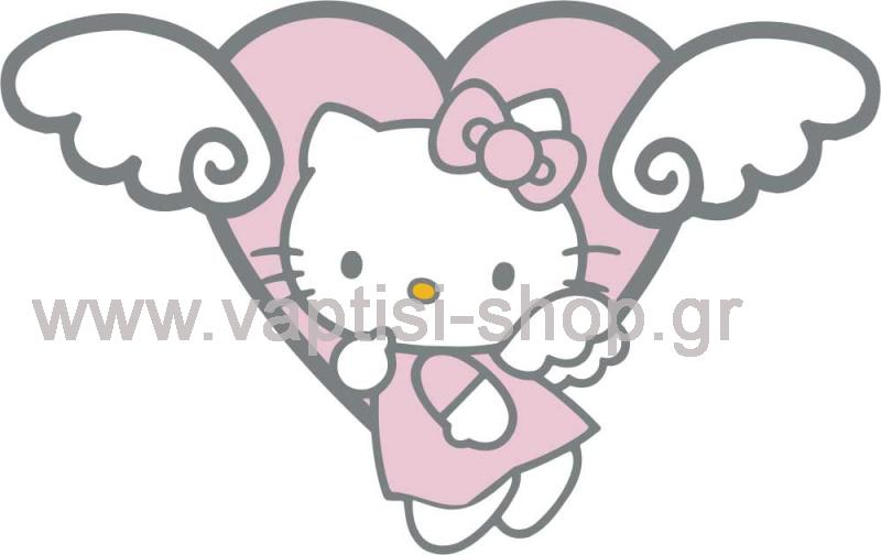 Hello Kitty με Φτερωτή Καρδούλα