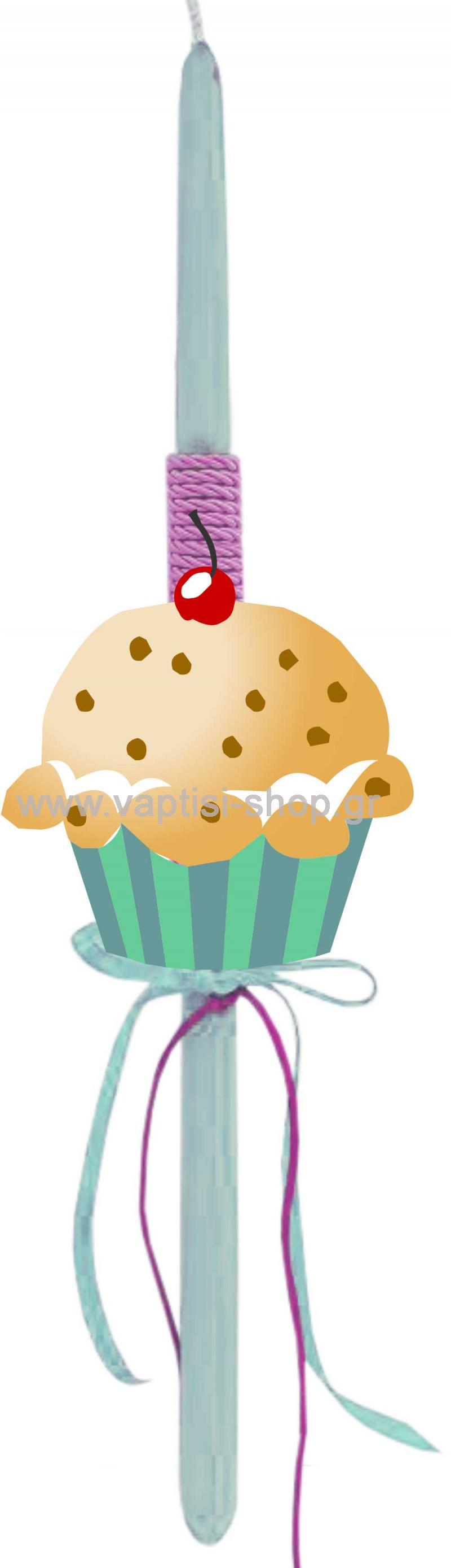 Πασχαλινή Λαμπάδα cupcake 2