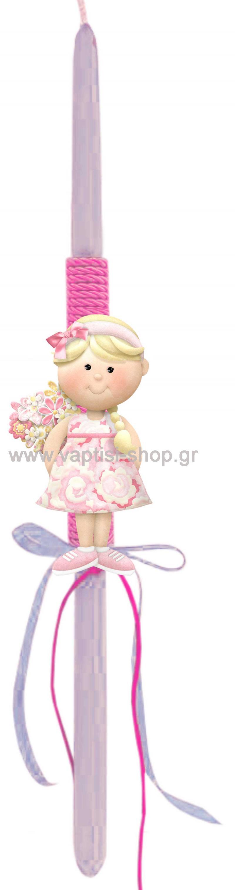 Πασχαλινή Λαμπάδα Κοριτσάκι 4