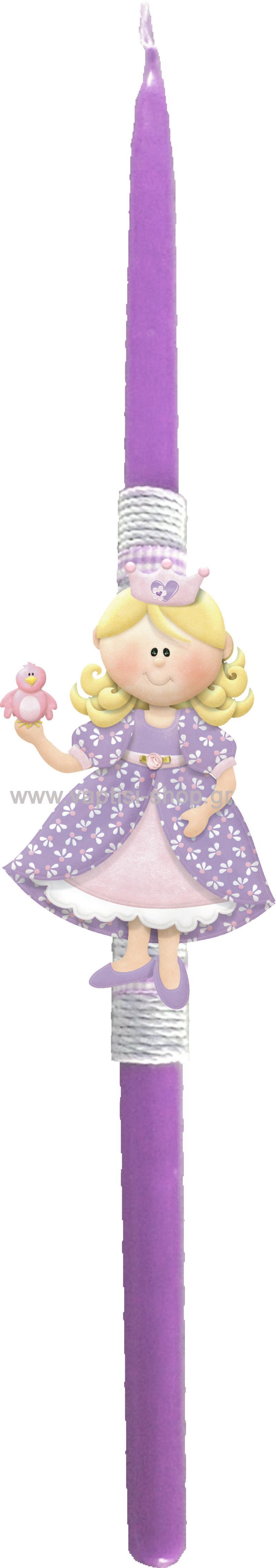 Πασχαλινή Λαμπάδα Πριγκίπισσα 3