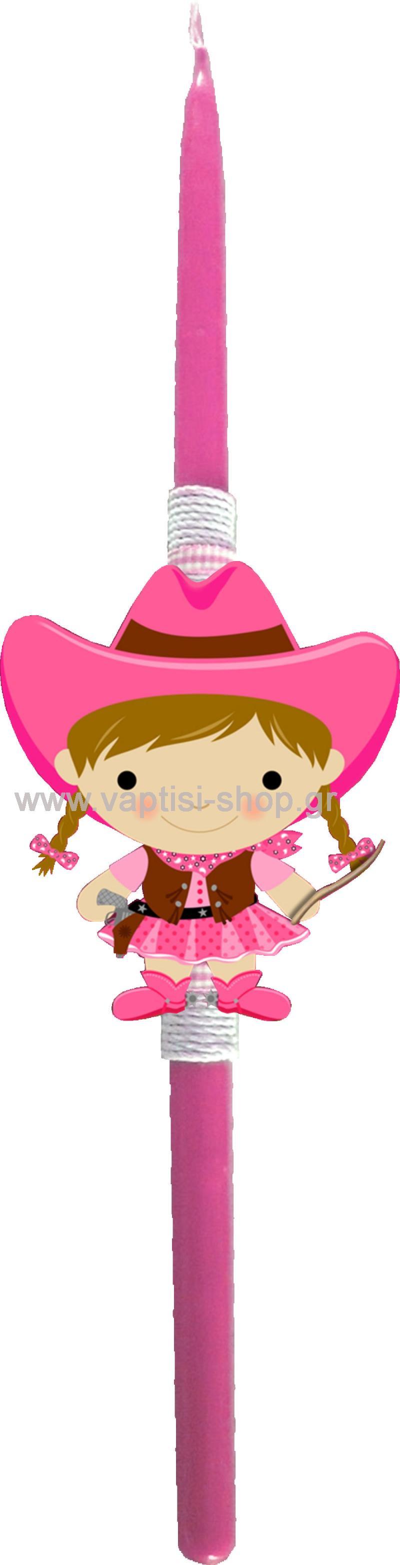 Πασχαλινή Λαμπάδα Cowgirl