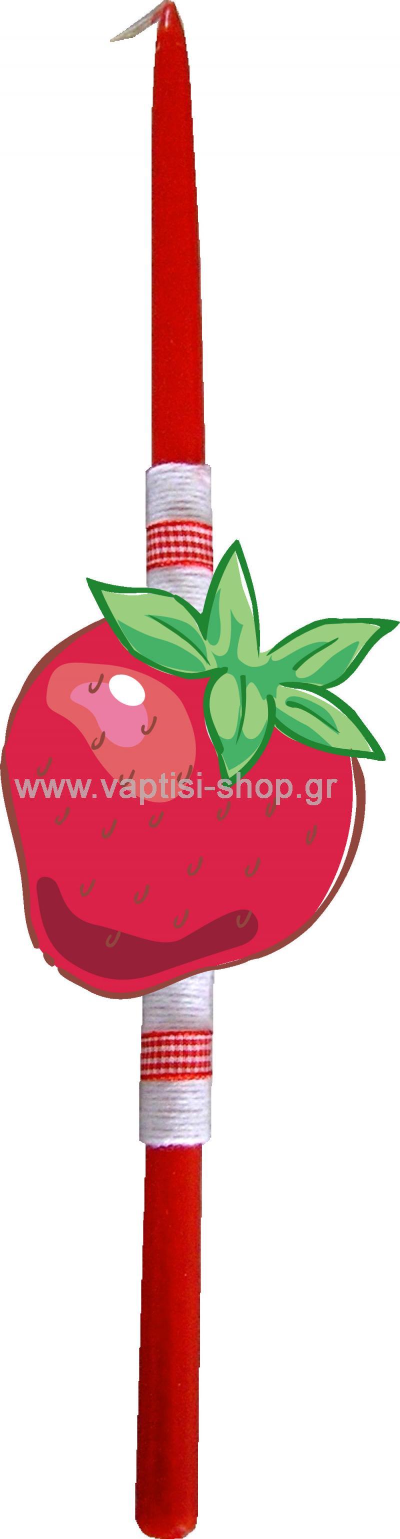Πασχαλινή Λαμπάδα Φράουλα
