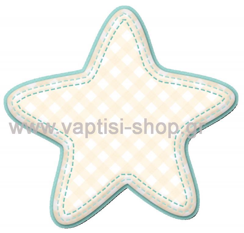 Αστέρι με Καρώ Παλ Χρώματα