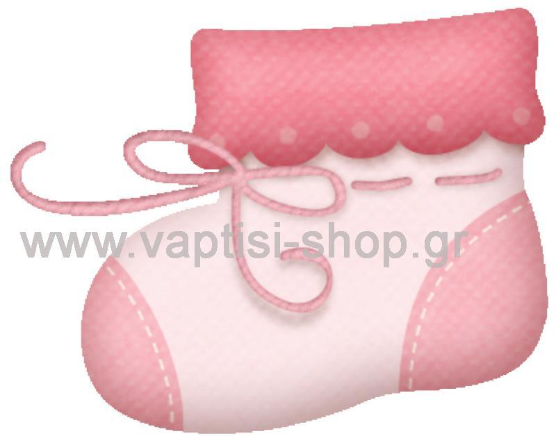 Καλτσάκι Ροζ με Φιογκάκι