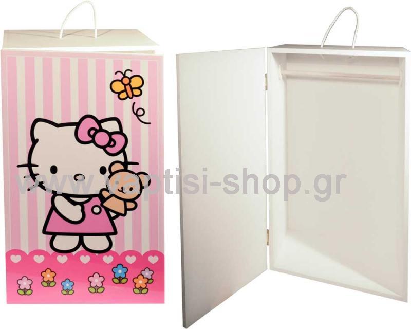 Ξύλινη Ντουλάπα Βάπτισης Hello Kitty