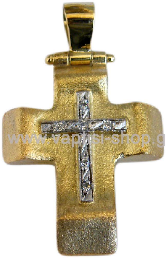 Χειροποίητος σταυρός με ζιργκόν Swarovski 007