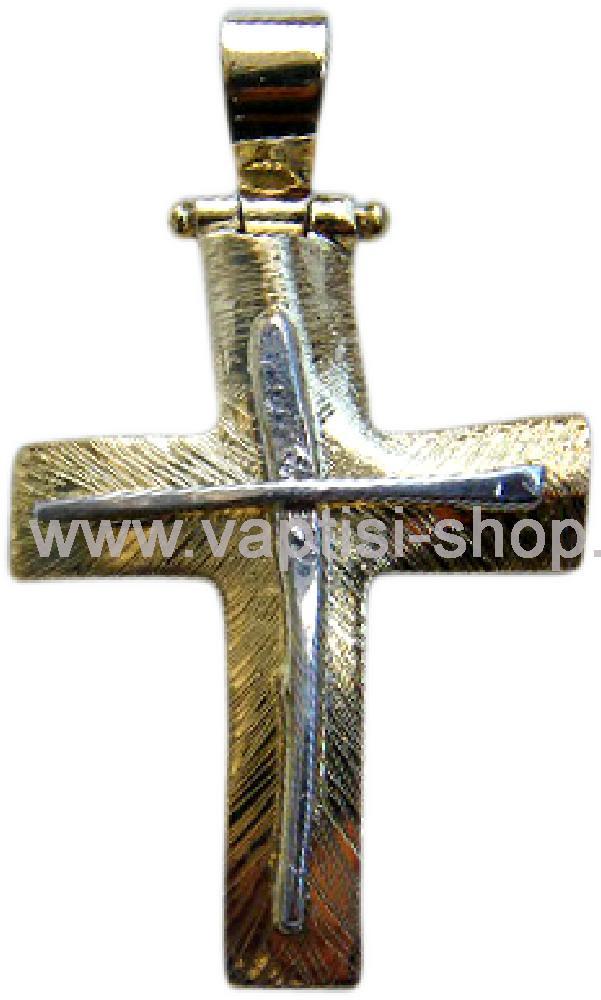 Χειροποίητος σταυρός με ζιργκόν Swarovski 033
