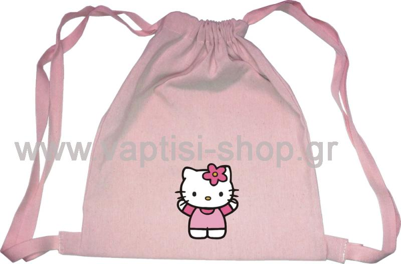 Τσάντα Πουγκί Hello Kitty (Ροζ)