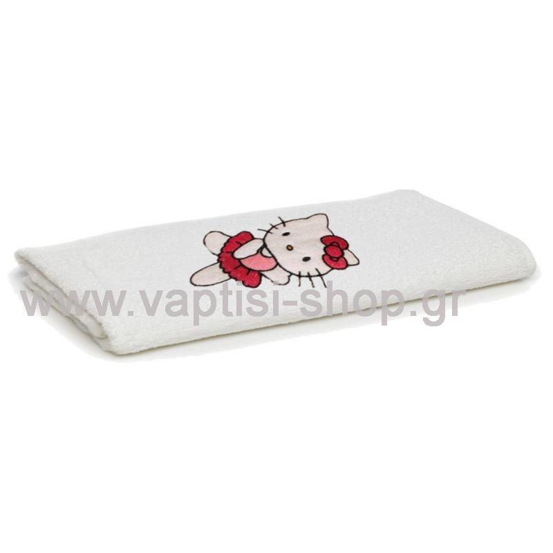 Πετσετάκι με κέντημα Hello Kitty