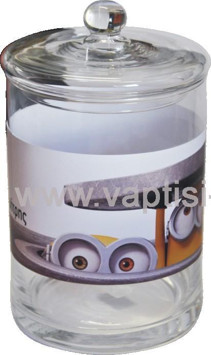Γυάλα με αυτοκόλλητo Minions περιμετρικά