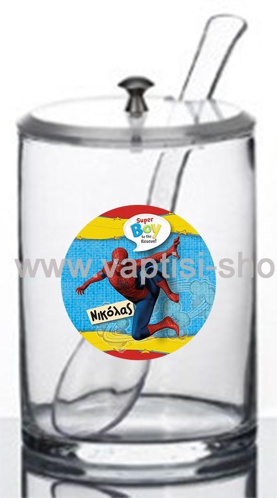 Γυάλα με Μπιζοτέ Καπάκι και Κουτάλα Spiderman