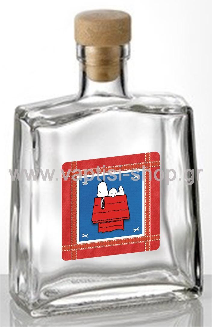 Μπουκαλάκι Παραλληλόγραμμο με Φελλό Snoopy