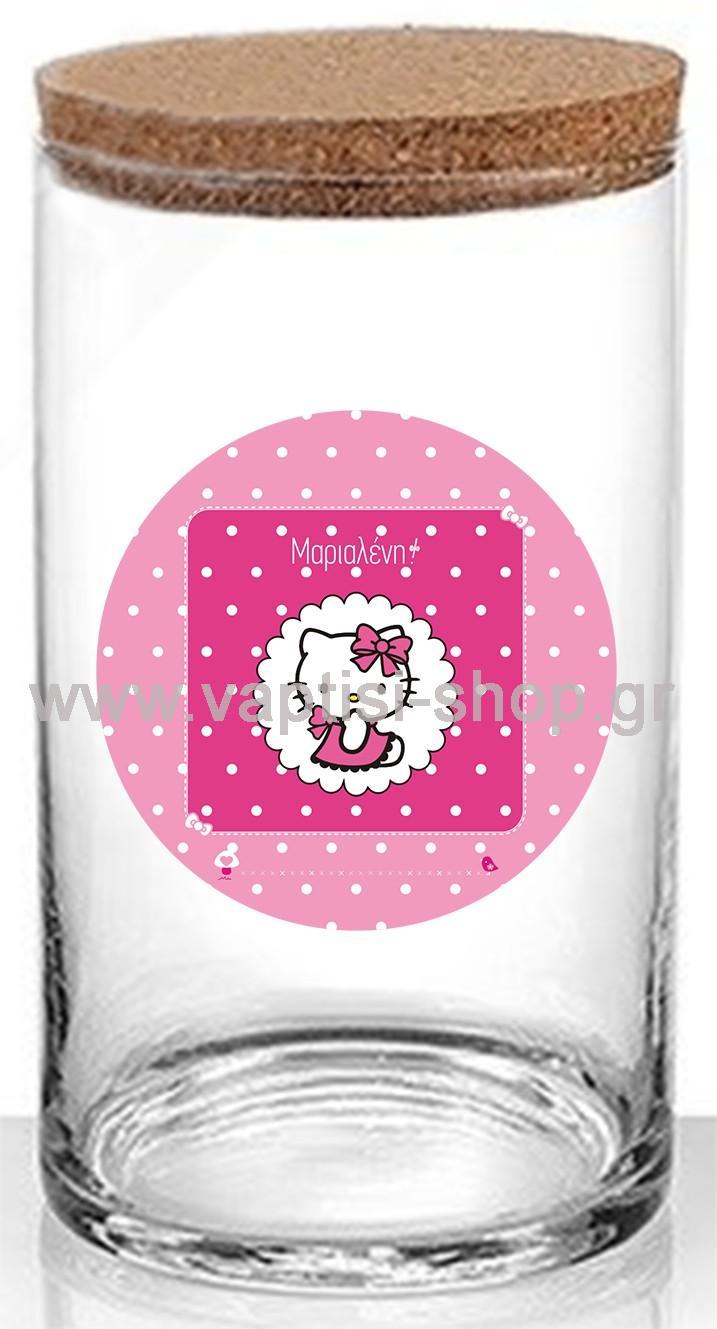 Κύλινδρος με Καπάκι από Φελλό Hello Kitty