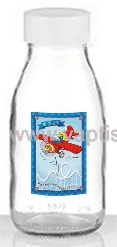 Μπουκάλι Aqua με Πλαστικό Καπάκι Στρουμφάκια 250ml