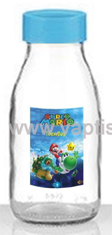 Μπουκάλι Aqua με Πλαστικό Καπάκι Super Mario 250ml