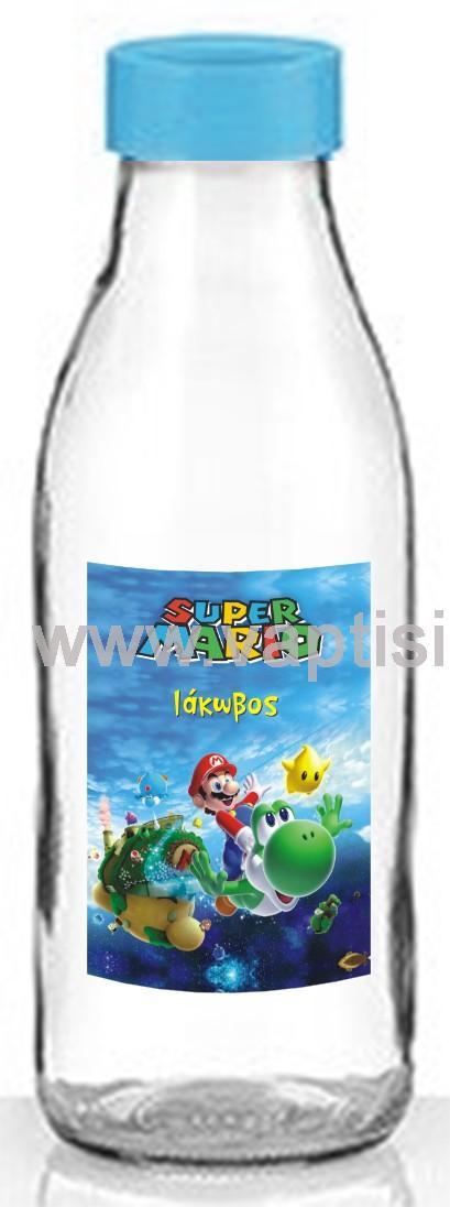 Μπουκάλι Aqua με Πλαστικό Καπάκι Super Mario 500ml
