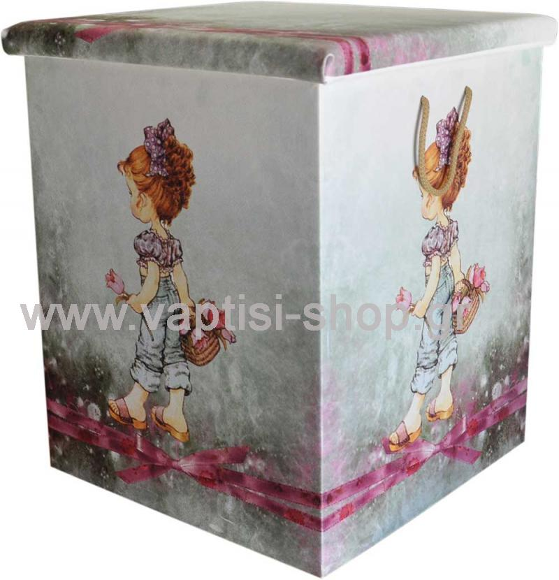 Κουτί βάπτισης Ντυμένο με Δερματίνη Sarah Kay 40 x 4 0x 51 cm