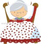 Γιαγιά Κοκκινοσκουφίτσας στο Κρεβάτι