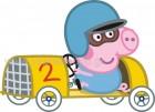 George in Racing Car