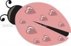 Πασχαλίτσα Ροζ με Καρδούλες