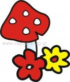 Μανιταράκι με Λουλουδάκια