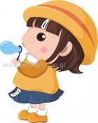 Κοριτσάκι Κάνει Φούσκες