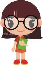 Κοριτσάκι Κρατάει Βιβλία