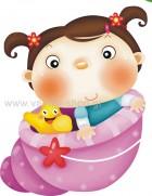 Μωράκι Κοριτσάκι Μέσα σε Κοχύλι