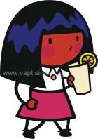 Κοριτσάκι που Πίνει Πορτοκαλάδα