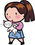 Κοριτσάκι με Γατούλα