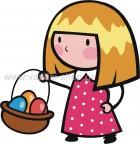 Κοριτσάκι με Καλάθι Αβγά
