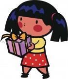 Κοριτσάκι με Δώρο στα Χέρια
