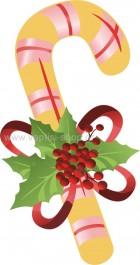 Μπαστουνάκι Χριστουγεννιάτικο με Γκι