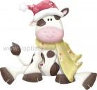 Χριστουγεννιάτικη Αγελαδίτσα με Κασκόλ