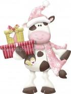 Χριστουγεννιάτικη Αγελαδίτσα με Δώρα