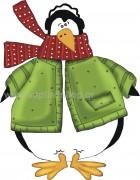 Χριστουγεννιάτικος Πιγκουίνος