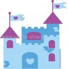 Κάστρο γαλάζιο-μοβ