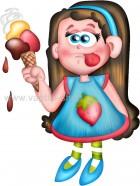 Κοριτσάκι με Παγωτό