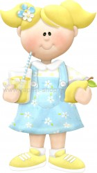 Κοριτσάκι με Θέμα Λεμόνια