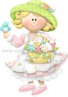 Κοριτσάκι με Καλαθάκι Λουλούδια