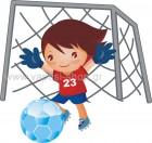 Ποδοσφαιριστής με τέρμα