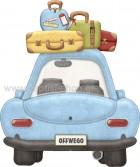αμάξι με βαλίτσες