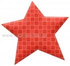 Αστέρι Κόκκινο με Καρώ