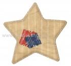 Αστέρι Εκρού Ριγέ με Μπάλωμα
