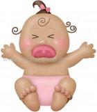 Μωράκι Κοριτσάκι που Κλαίει Μελαχρινό