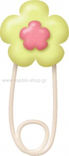 Παραμάνα Πράσινη Λουλουδάκι