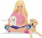 Barbie με τα Σκυλάκια της