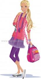 Barbie με Σχολική Τσάντα