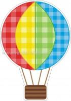 Αερόστατο Καρό πολύχρωμο
